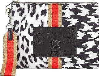 CODELLO Damen Tasche, Clutch | Mustermix | 100% Baumwolle Canvas |19,5 x 26 x 2 cm