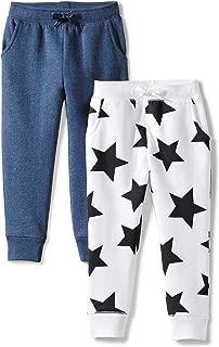 Amazon Brand - Spotted Zebra Girls' Toddler & Kids 2-Pack Fleece Jogger Pants