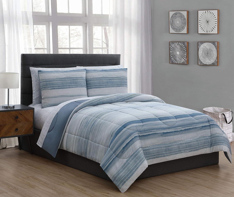 Geneva Home Fashion Laken Bed in a Bag King bluee