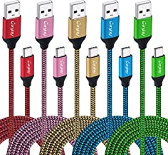 USB Type C Cable, 5 Pack 10ft Canjoy USB Type C Fast Charger Cord Compatible Samsung Galaxy S10 S10+ S9 S8 Plus Note 8 Note 9, Moto X4/Z2/G6, Google Pixel XL 2XL 3XL C, Nexus 5X 6P, LG G5 G6 V20 V30