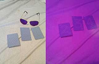 Infrared UV Luminous Ink Aviator Glasses with a deck of marked Bee brand cards