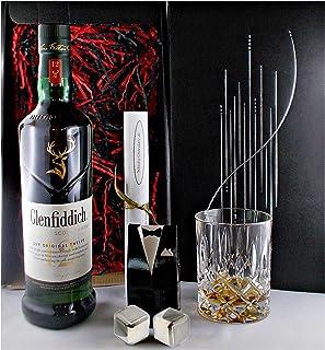 Geschenk Glenfiddich 12 Jahre Single Malt Whisky  Glas  2 Whiskey Kühlsteine