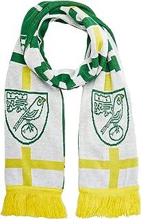 OTS English Premiership Norwich City Men's Silas Scarf, White, One Size