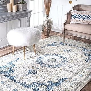nuLOOM 200RZBD07A-305 Verona Vintage Persian Area Rug, 3' x 5', Blue