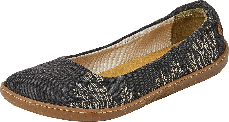 El Naturalista kvinnor N5300t N5300t N5300t Seaweed duk svart  Coral Ballet Flat  rimligt pris