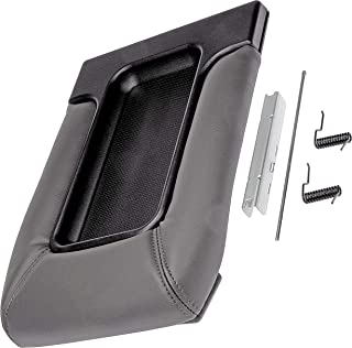 APDTY 035922 Center Console Compartment Lid/Leather Armrest Replacement Kit - Dark Gray/Pewter Color For 2001-2006 Escalade, Avalanche, Silverado, Sierra, Suburban, Tahoe, Yukon (Replaces 19127364)