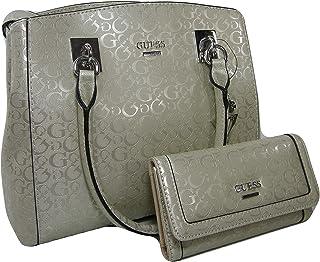 4d3b7e95ea New Guess G Logo Purse Satchel Hand Bag Crossbody & Wallet Set 2 Piece  Champagne