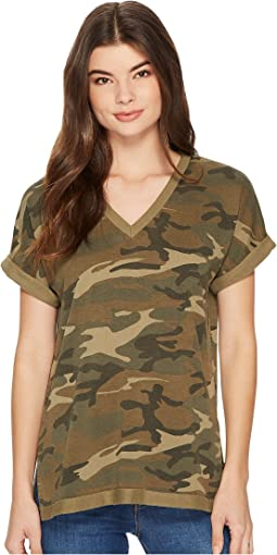 Burnout French Terry Co-Ed Deep V Tee
