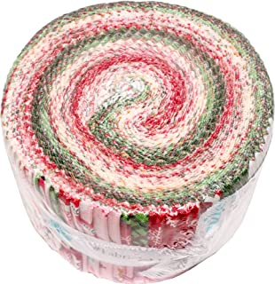 Dani Mogstad Merry and Bright Rolie Polie 40 2.5-inch Strips Jelly Roll Riley Blake RP-8390-40