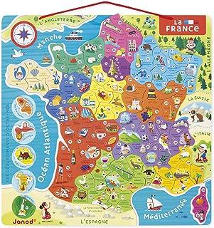 Janod - J05480 - Puzzle France Magnétique 93 Pièces