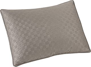 Brielle Basket Weave Sham Set, Standard, Grey