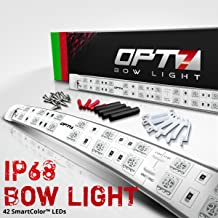Boat Bow LED Lighting RED & Green Kit - Waterproof LED Lights for Fishing - Bass, Lake, River, Boating, Ocean, Sailing, Single Stack - 1 Mile Visibility - Marine Safety, USCG Regulation