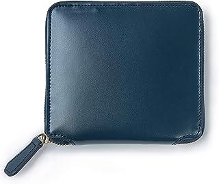 MURA 財布 メンズ 二つ折り 本革 ファスナー 小銭入れ コードバン調 10枚カード収納