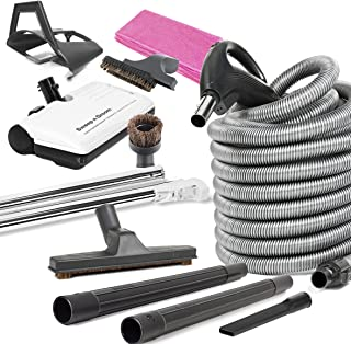 Ultra Clean Beam Compatible Central Vacuum Electric Powerhead Sweep N Groom Rugmaster 30' Hose Kit