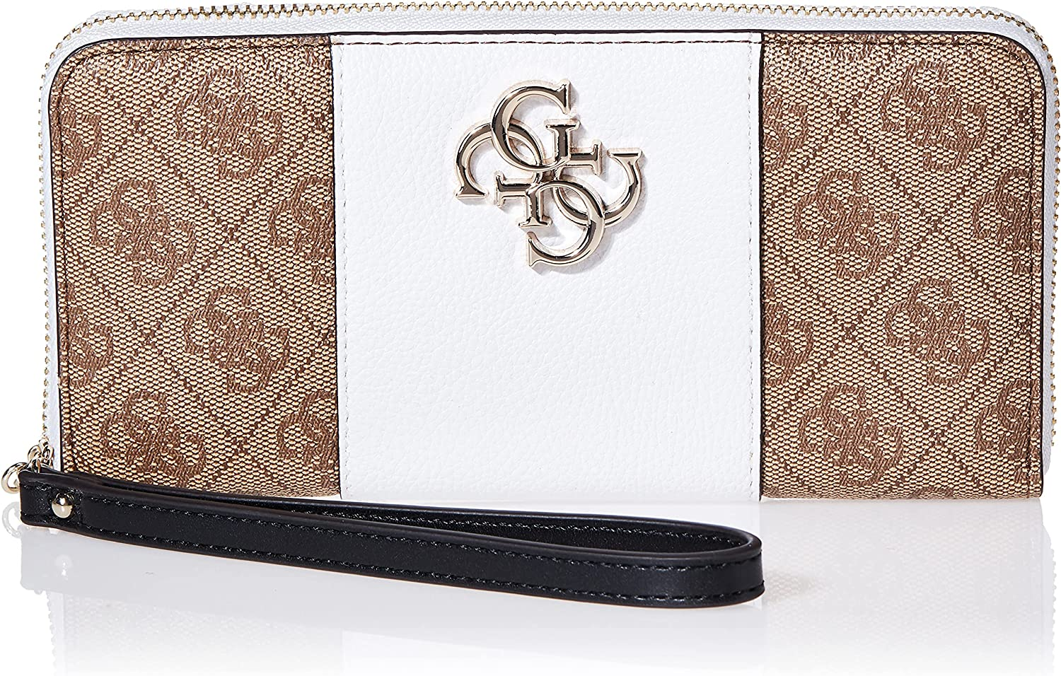 GUESS Noelle Large Zip 2021 spring and summer new Wallet Around 70% OFF Outlet Latte Multi