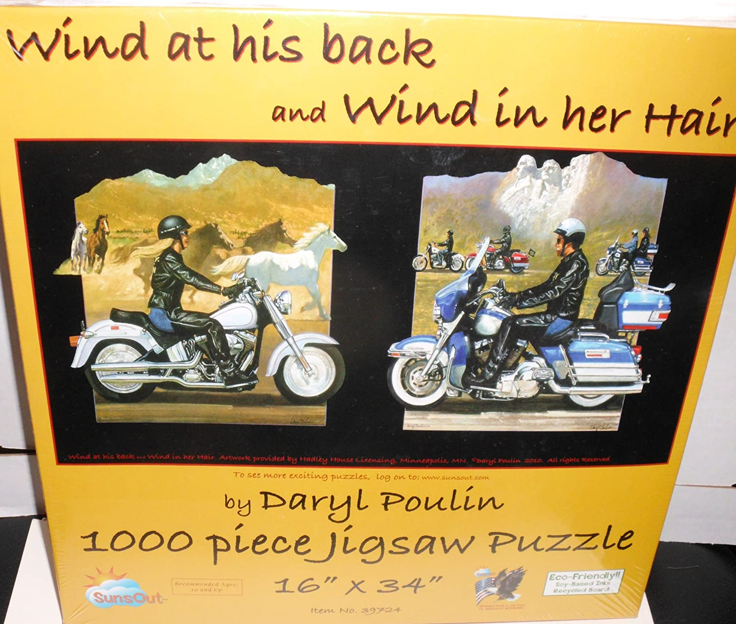 Wind in her Hair & Wind on his Back 1000pc Jigsaw Puzzle by Daryl Poulin
