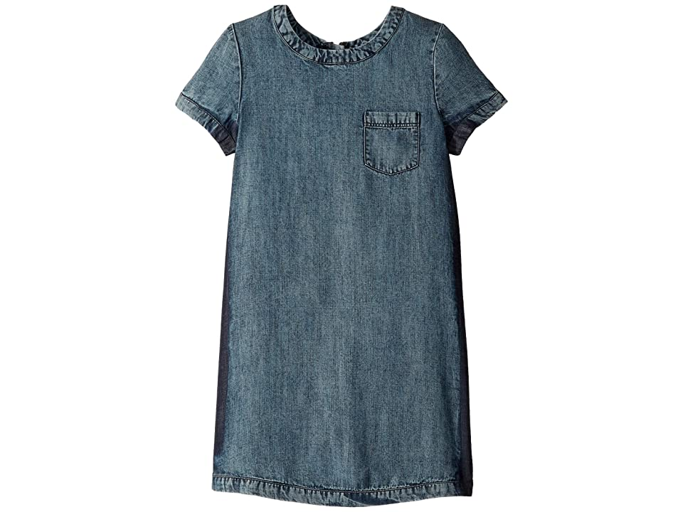 Ella Moss Girl Release Side Seam Denim Dress (Big Kids) (Medium Stone Indigo) Girl