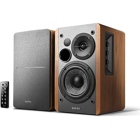 Edifier Studio R1280db 2 0 Bluetooth Lautsprechersystem 42 Watt Regallautsprecher Mit Infrarot Fernbedienung In Holzfarbe Audio Hifi