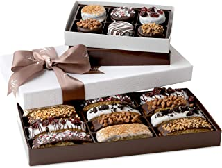Barnett's Chocolate Cookies & Biscotti Christmas Gift Baskets, Unique Gourmet Cookie Tower Gifts Holiday Food Ideas For Hi...