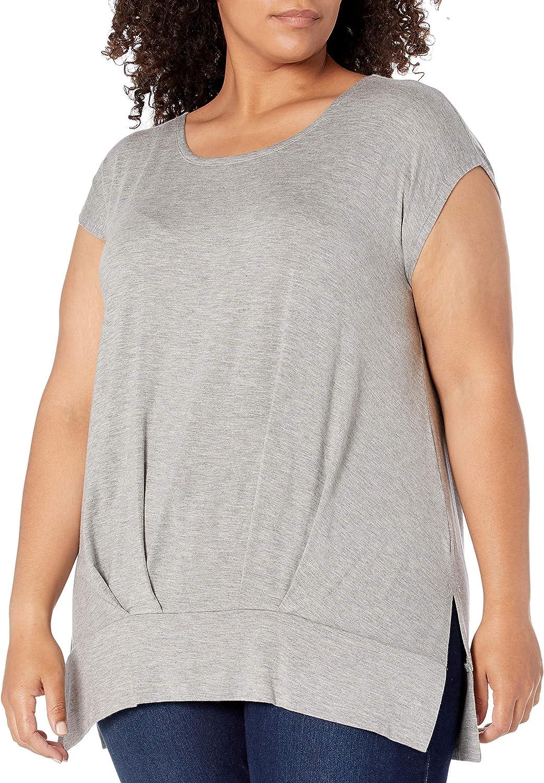 RACHEL Rachel Roy Women's Plus Size Pleated Hi Lo Tee at  Women's Clothing store