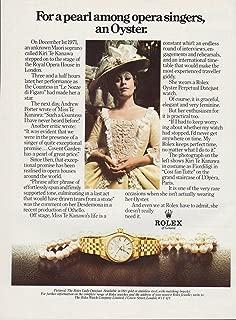 1979 Print Ad Rolex Lady Datejust Watch - Kiri Te Kanawa Soprano Opera Singer
