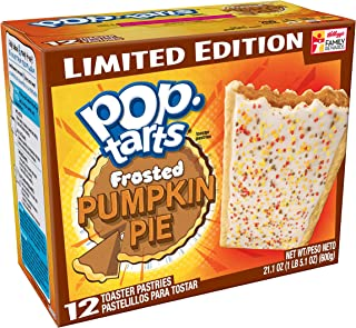 Pop-Tarts BreakfastToaster Pastries, Frosted Pumpkin Pie Flavored, Limited Edition, 21.1 oz, 12 Count,(Pack of 12)