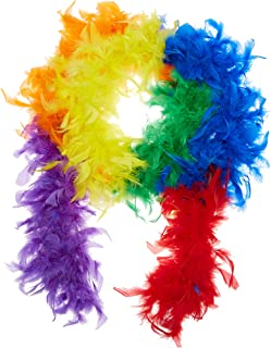 rainbow feather dress