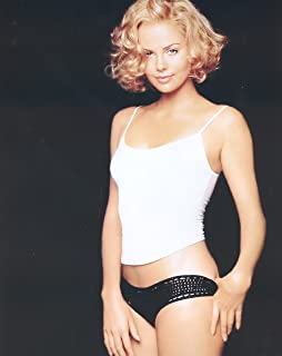 6831d991d Charlize Theron in White Tank Top and Black Underwear Mid Modeling Photo 8  inch x 10