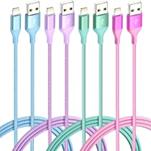 $29 » iPhone Charger Lightning Cable 4Pack 4Color Apple MFi Certified Nylon Braided Long Fast USB Cord Compatible for iPhone 11Pro MAX Xs XR X 8 7 6S 6 Plus SE 5S 5C (Blue Green+Red Purple)