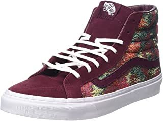 Vans Mens Sk8-Hi Fabric Hight Top Lace Up Fashion, Port Royale/Multi, Size 4.5 T