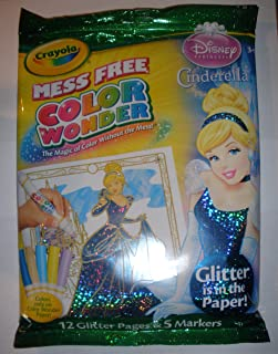 """Crayola Color Wonder - Disney Princess Glitter Paper & Markers, """"Glitter is in the Paper"""""""