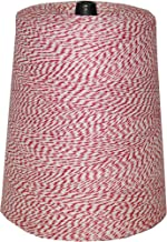 T.W Evans Cordage 07-041 4 Poly Variegated 2-Pound Cone, 9600-Feet, Red and White