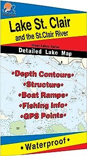 St. Clair/St. Clair River Fishing Map, Lake (MI/ONT)