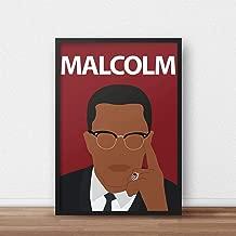 Malcolm X Poster Print // Civil Rights - Black Lives Matter - Art - Wall Art - Minimalist - Freedom - Portrait - Retro - Gift - Protest - Dorm Decor
