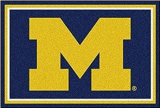 "FANMATS 6264 NCAA University of Michigan Wolverines Nylon Face 5X8 Plush Rug,Team Color,60""x92"""