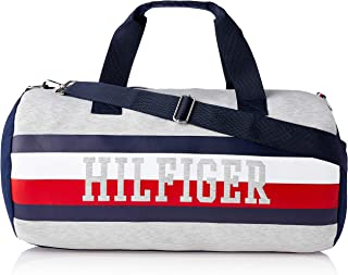 Tommy Hilfiger Unisex Iconic Dale Colourblock Canvas Duffle Bag Iconic Dale Colourblock Canvas Duffle Bag, Grape Leaf/Multi/Navy, One Size