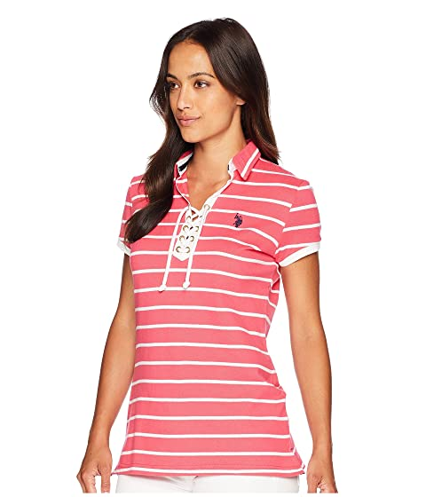 Lace S U Polo Striped Pique Up POLO Shirt ASSN vHZqwpf