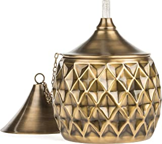 H Potter Tabletop Outdoor Torches use Citronella Oil as Mosquito Repellent for Garden Patio Deck Made of Brass with Fiberglass Wick and Antique Finish Torch Model Number GAR596