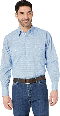 George Strait Long Sleeve Troubador Print Snap