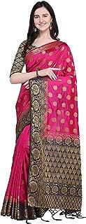 Rajnandini Women's Silk Traditional Kanjivaram Rich Pallu Zari Weaving Work Saree(JOPLNS2021-P_Free Size)