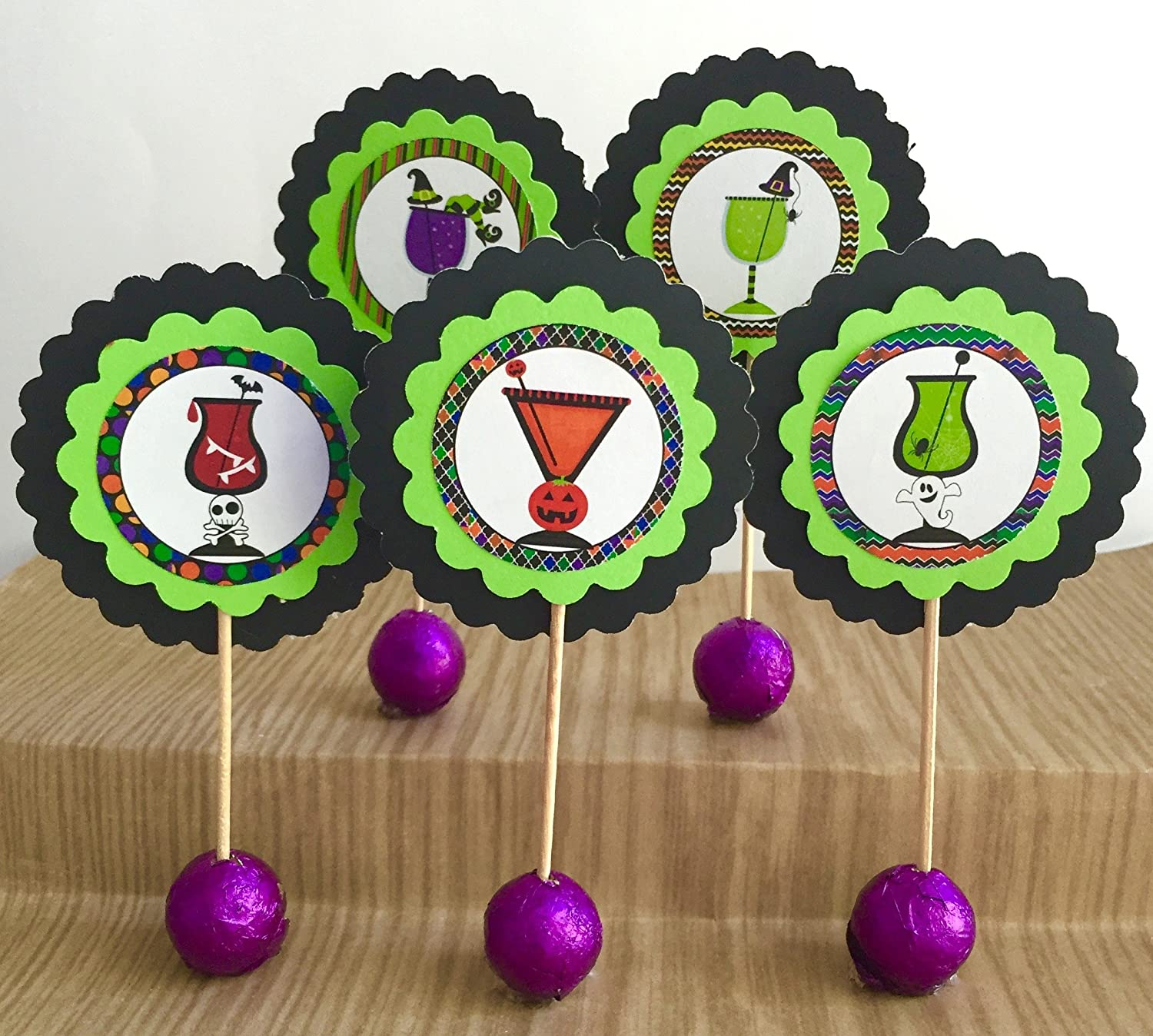 Set Store of 12 Halloween Direct stock discount Cupcake Girls Witches Toppers
