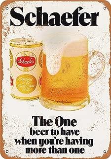 Wall-Color 7 x 10 Metal Sign - 1975 Schaefer Beer - Vintage Look