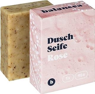 BALANCEA Seife Rose/Haarseife Naturseife Duschseife/ 1er Pack 1 x 95 g