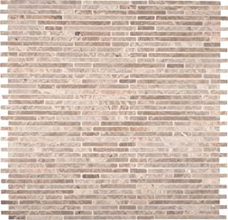 MS International AMZ-MD-00029 Crema Ivy Bamboo Tile 12 in. x 12 in. White 10 Piece