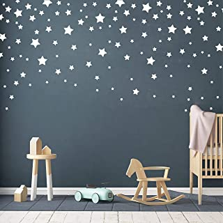 190 Picees Star Wall Decals, Matte Vinyl Wall Decals, Nursery Wall Decals, Easy to use, Removable Wall Decals for Kids Bab...