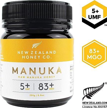 New Zealand Honey Co. Raw Manuka Honey UMF 5+   MGO 83+, 8.8oz / 250g