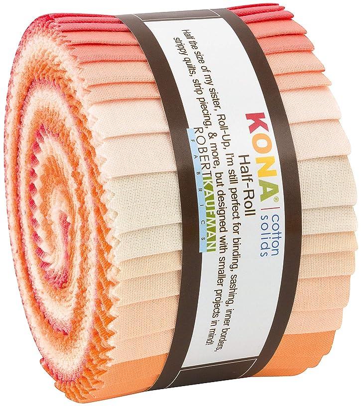 Robert Kaufman Kona Cotton Solids Melon Ball Half Roll 2.5