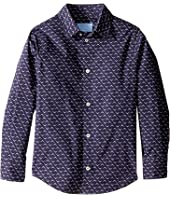 Lanvin Kids - All Over Print Long Sleeve Button Up Shirt (Little Kids/Big Kids)