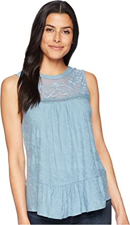 Tiered Jacquard Tank Top