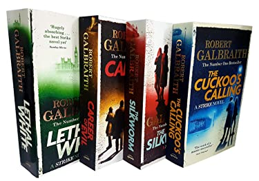 Cormoran Strike by Robert Galbraith 4 Books Collection Set (The Cuckoo's Calling, The Silkworm, Career of Evil, Lethal White)